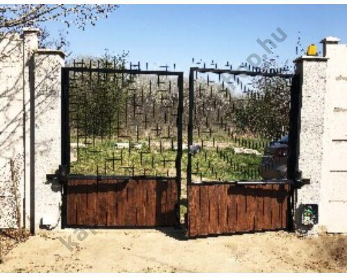 Szárnyas kapu kétoldalú trapézlemez borítással