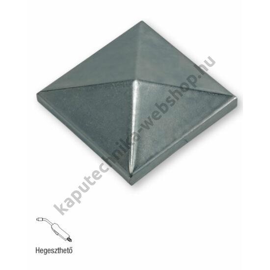 art. 340 Hegeszthető natúr acél négyzet alakú oszlopzáró sapkák - választható méretekben