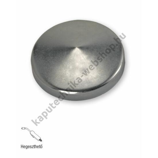 art. 341 Hegeszthető natúr acél oszlopzáró sapka
