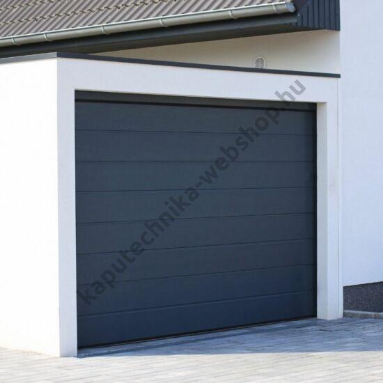 Antracit motoros szekcionált garázskapu 2500x2020mm