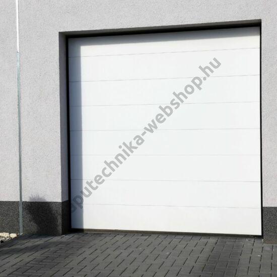 Fehér motoros szekcionált garázskapu 2500x2020mm