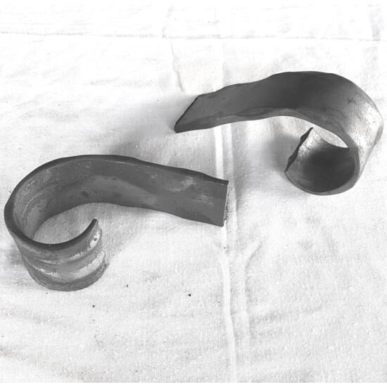 Korlátvég 40x5mm-es mángorolt laposvashoz