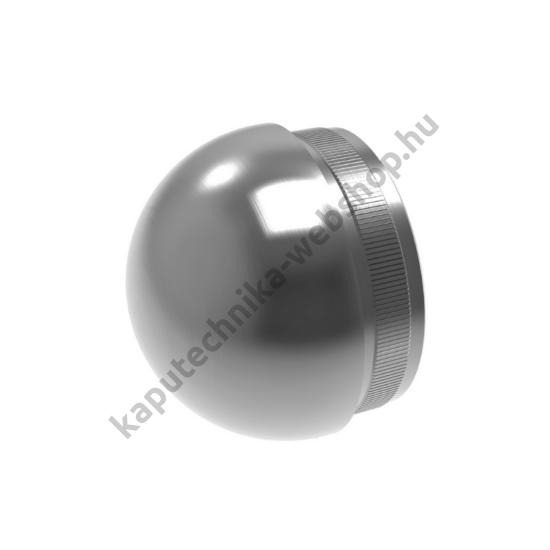 A-5730 Szálcsiszolt félgömb végzáró 33,7x2mm átmérővel