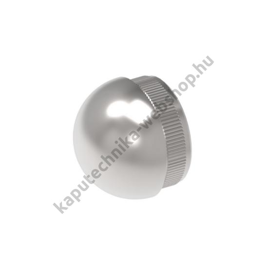 A-5733 Szálcsiszolt félgömb végzáró 42,4x2mm átmérővel