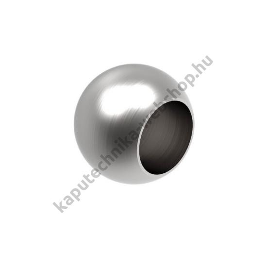 A-0221-012 Szálcsiszolt gömb végzáró 12mm átmérővel