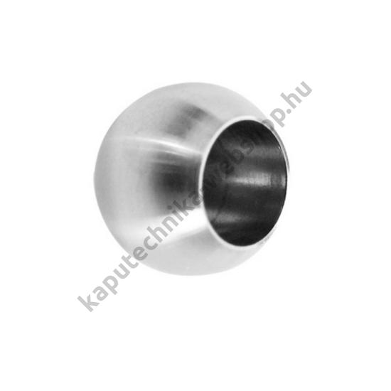 A14-0221-012 Szálcsiszolt gömb végzáró 12mm átmérővel