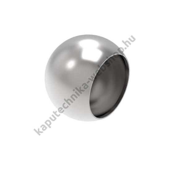 A9-42 Szálcsiszolt gömb végzáró 42,4x2mm átmérővel
