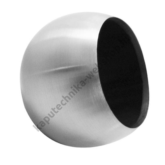 A9-48 Szálcsiszolt gömb végzáró 48,3x2mm átmérővel