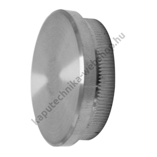 Rozsdamentes polírozott, lapos, cső végzáró, AISI304, ø42,4x2mm